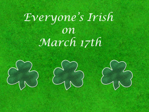 Everyone can be Irish on St Patrick's Day