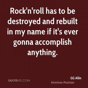 GG Allin Quotes