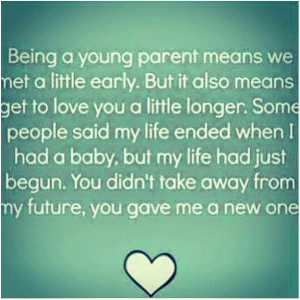 Being a young mom