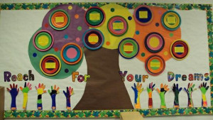 Reach For Your Dreams! - Inspirational Bulletin Board Idea