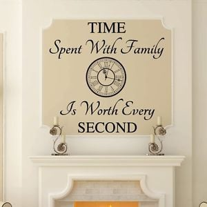 TIME-SPENT-WITH-FAMILY-Wall-Art-Decal-Quote-Words-Lettering-Decor ...