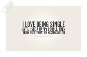 105902 I love being single quote Hate Being Single Quotes