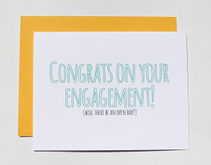 Cute Engagement Quotes Facebook Funny engagement card