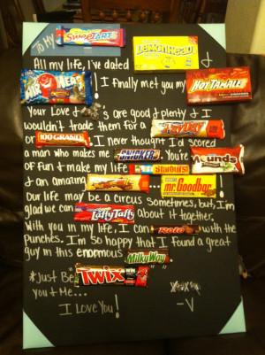 Candy Bar Poem For Boyfriend
