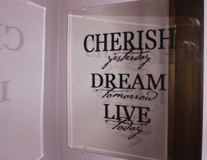 Catalog > Cherish Dream Live Wall Art Decal
