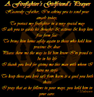 Firefighter's Girlfriend Prayer!