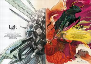 Campagne Mercedes / Left brain-Right brain