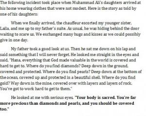 Beautiful quote Muhammad Ali said to his daughter.