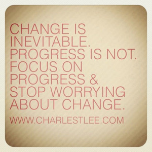 Change #Progress. Atta boy Charles!