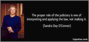 The proper role of the judiciary is one of interpreting and applying ...