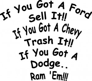 All Dodge decals are made of
