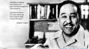 "…"" -Langston Hughes motivational inspirational love life quotes ..."