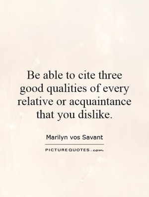 Relatives Quotes Marilyn Vos Savant Quotes