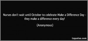 Nurses don't wait until October to celebrate Make a Difference Day ...