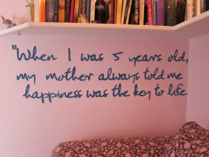 John Lennon Quotes When I Was 5 Years Old John lennon quote mural