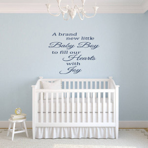 Brand New Lilttle Baby Boy To Fill Our Hearts With Joy - Baby Quote