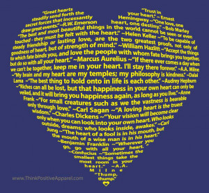 Big Heart Design made entirely of quotations on having heart
