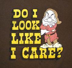 Disney Snow White 7 Dwarfs Grumpy T-shirt XL Graphic Tee Blue Cotton ...