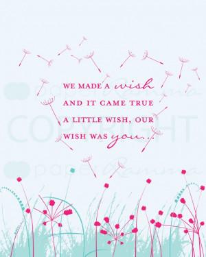 Dandelion Wishes,