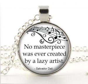 Salvador Dali Quote Pendant - Art Quote Necklace - Dali Jewelry - Dali ...
