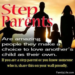 it as being a step parent. I put my heart & soul into being a parent ...