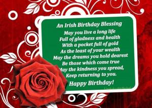 Irish Birthday BlessingHappy Birthday, Birthday Quotes, Birthday ...