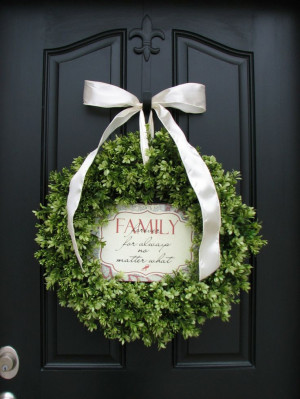 ... Year Round Wreath - Family - Inspiration Decor - Inspirational Quotes