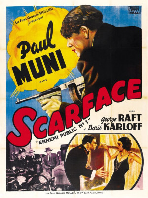 SCARFACE (1931) - Paul Muni - George Raft - Boris Karloff - Universal ...