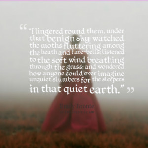 Quotes About: wuthering heights