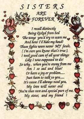 sisters poem Image