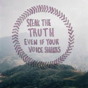 Speak the truth #quotes