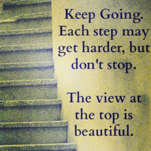 Keep going...step by step
