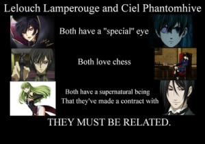 Code Geass and Black Butler - anime Photo