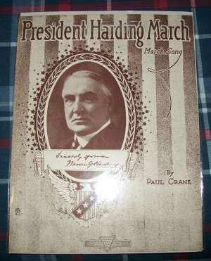 Well, Warren Harding, I have got you the presidency. What are you ...