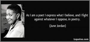 More June Jordan Quotes