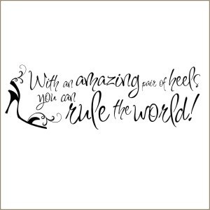 High Heel Shoes Wall Quote Decal   Vinyl Stencil-shoe, heels, quote ...