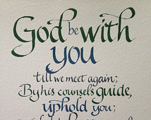 Goodbye Gift, Farewell, Custom Call igraphy, Christian Gift, Christian ...