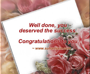 Congratulations On Your Success Quotes