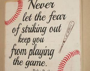 Baseball Decor, Baseball Sign, Baseball Quote, Wooden Baseball Sign ...