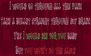 Song Lyric Quotes In Text Image: Grenade - Bruno Mars Song Quote Image
