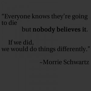 Morrie Schwartz Quotes Love