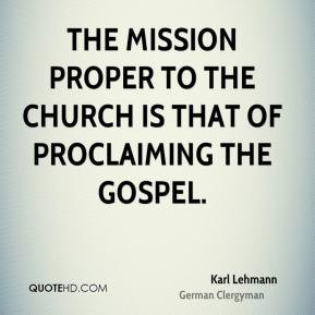 Karl Lehmann Faith Quotes