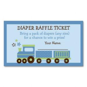 Choo Choo Train Diaper Raffle Tickets Business Card Template