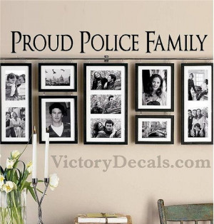 ... Wall Decal 36x4 Proud Police Family Quote by VictoryDecals, $20.00