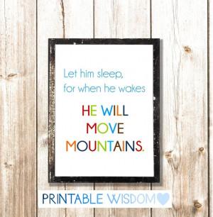 Nursery Quote Boy, printable Wall Decor, Print for Nursery Decor, art ...