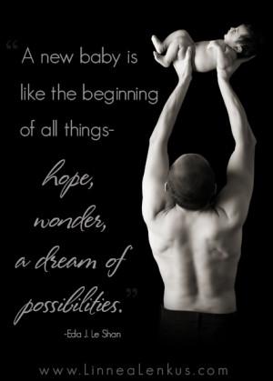... baby inspirational quote linnea lenkus new beginnings quote quotes