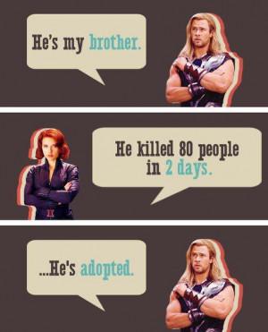 Meme Week: Avengers Thor and Black Widow Talk About Loki