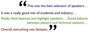 ... was a resounding success as gauged by feedback from the attendees
