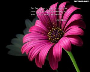 Christian Quote: All Things Are Possible Flower Background Wallpaper ...