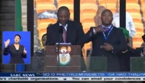 ... Thami Jantjies- Fake Sign Interpreter at Nelson Mandela's Memorial